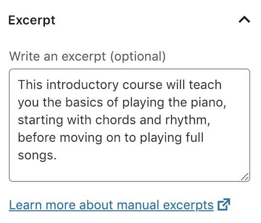 Course excerpt