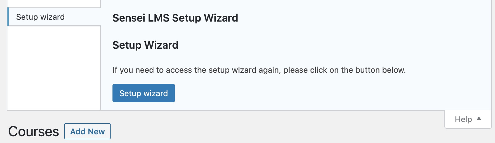 Launch the setup wizard